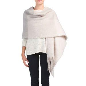 Woven tan scarf shawl